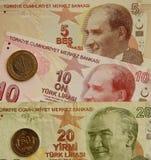 Turkiet valuta Royaltyfri Fotografi