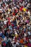 Turkije, Antalya, Menigte van mensen Stock Foto