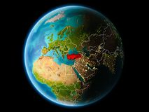 Turkije in de avond Royalty-vrije Stock Afbeeldingen