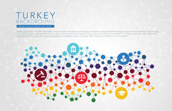 Turkije gestippelde vectorachtergrond Royalty-vrije Stock Foto