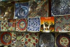 Turkije, Istanboel, Grote Bazaar Stock Foto's