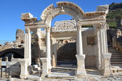 Turkije, Izmir, Bergama in de oude Griekse verschillende A aardige inleiding van Hellenistic, dit is een echte beschaving, baden Royalty-vrije Stock Fotografie