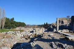 Turkije, Izmir, Bergama het oude Grieks, ruïnes verspreidde zich over een breed gebied Royalty-vrije Stock Foto