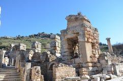 Turkije, Izmir, de oude Griekse weg van Bergama Royalty-vrije Stock Foto's