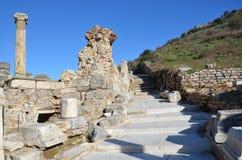 Turkije, Izmir, het oude Griekse bad van Bergama Stock Foto's