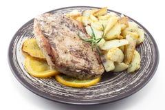 Turkije met aardappel Stock Foto's