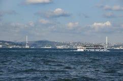 Turkije noemt de Martelaren' Brug' anders van de Brug '15 Juli van Bosporus Royalty-vrije Stock Fotografie