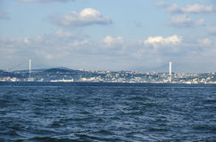 Turkije noemt de Martelaren' Brug' anders van de Brug '15 Juli van Bosporus Stock Afbeeldingen