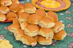 Turkije op broodjes Stock Afbeelding