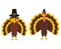 Turkije Pilgrimin op Thanksgiving day Royalty-vrije Illustratie