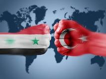 Turkije x Syrië Royalty-vrije Stock Foto's