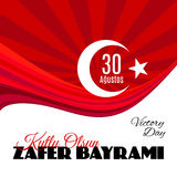 Turkije vakantie Zafer Bayrami 30 Agustos Stock Foto