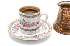 turkish бака кофейной чашки Стоковые Фотографии RF