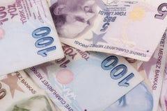 Turkish завертывает лиры в бумагу Стоковое фото RF