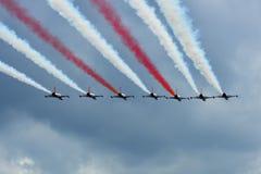 Turkish играет главные роли пилотажная команда Стоковое Изображение RF