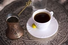 turkish кофе традиционный Стоковая Фотография