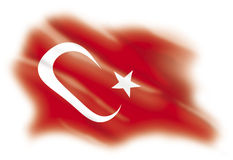 turkish флага Иллюстрация вектора