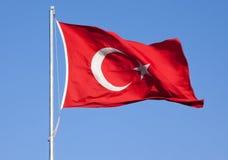 turkish флага Стоковые Изображения RF