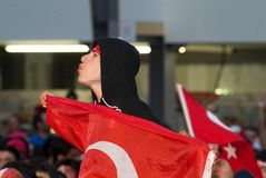 turkish футбола вентилятора Стоковое Изображение
