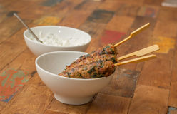 Turkish adana kebab with coriander Royalty Free Stock Image