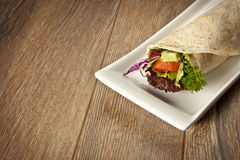 Turkish Adana Kebab Durum Royalty Free Stock Images