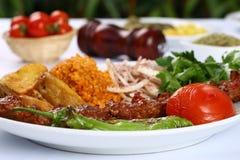 Turkish Adana Kebab. Turkish traditional kebab specials ready to serve Royalty Free Stock Photos