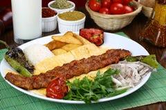 Turkish Adana - Urfa Kebab. Turkish traditional kebab specials ready to serve Royalty Free Stock Photography