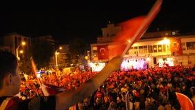 Turkish, Adiyaman, 15 July, - 2019 : July 15, 2019 Celebrations in Adiyaman Adiyaman 15 Temmuzu kutluyor. stock video