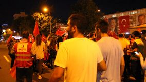 Turkish, Adiyaman, 15 July, - 2019 : July 15, 2019 Celebrations in Adiyaman Adiyaman 15 Temmuzu kutluyor. stock video footage