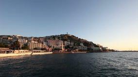 The Turkish Aegean Coast. Establishing shot of the Turkish Aegean coast stock video