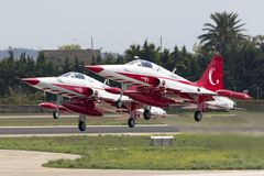 Turkish Air Force Aerobatic Display Team Royalty Free Stock Photo