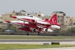 Turkish Air Force Aerobatic Display Team Stock Photo
