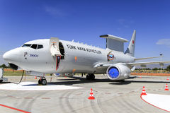 Turkish Air Force Boeing 737 Wedgetail royalty free stock photo