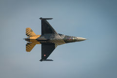 Turkish Airforce F16  solo diplay aircraft Royalty Free Stock Image