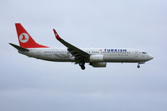 Turkish Airline Boeing 737 Royalty Free Stock Image