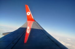 Крыло Turkish Airlines Стоковые Изображения