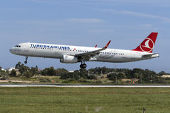 Turkish Airlines A321 Obrazy Stock