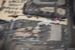 Turkish Airlines 737 on Approach Royalty Free Stock Photos