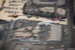 Turkish Airlines 737 op Benadering Royalty-vrije Stock Foto's