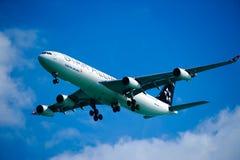 Turkish Airlines A340-311 auf Schluss Lizenzfreies Stockfoto