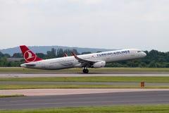 Turkish Airlines Aerobus A320 Fotografia Stock