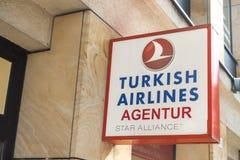Turkish Airlines Agentur Stock Afbeelding