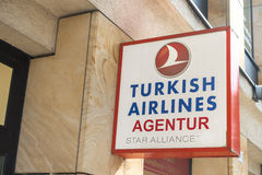 Turkish Airlines Agentur Stock Image
