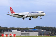 Turkish Airlines Airbus A321 Imagens de Stock