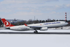 Turkish Airlines Airbus A330 Imagens de Stock
