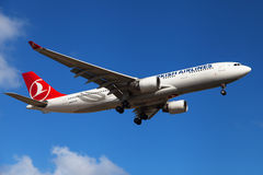 Turkish Airlines Airbus A330 Fotografia de Stock Royalty Free