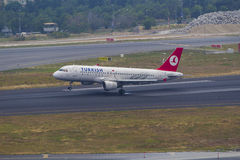 Turkish Airlines Airbus A-320 Stock Photo