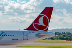 Turkish Airlines Airbus A321 tail Stock Photo
