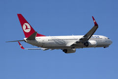 Turkish airlines B737 takeoff Stock Photography