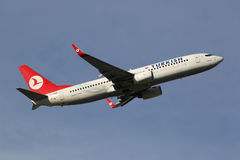 Turkish Airlines Boeing 737-800 Image stock